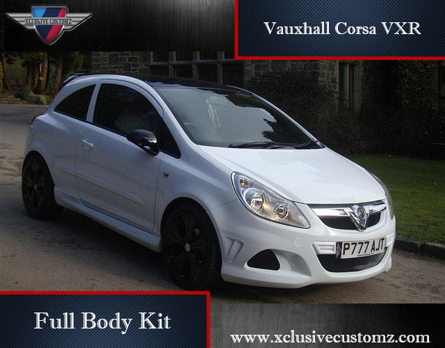 vauxhall corsa vxr full body kit for corsa d ebay. Black Bedroom Furniture Sets. Home Design Ideas
