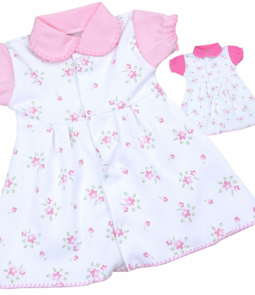 BabyPrem Baby Clothing Girls White Pink Vintage Floral ...