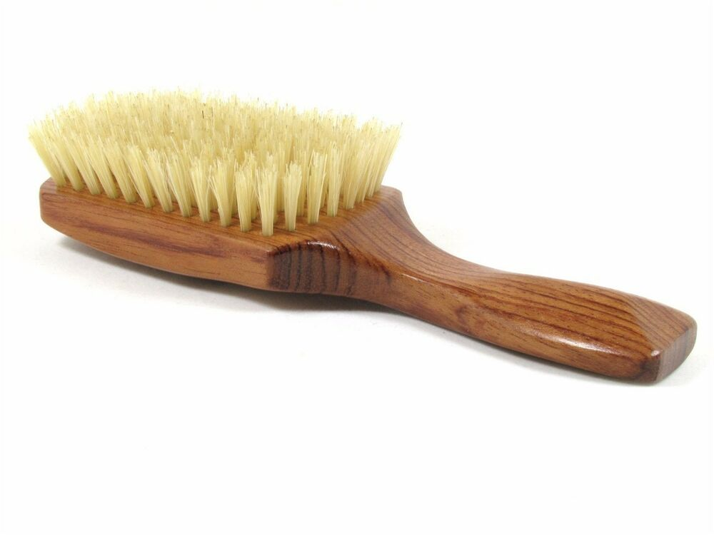 Hair brush with natural bristles