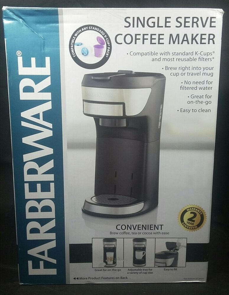Farberware K-Cup Single-Serve Coffee Maker Max Cap 10oz ...