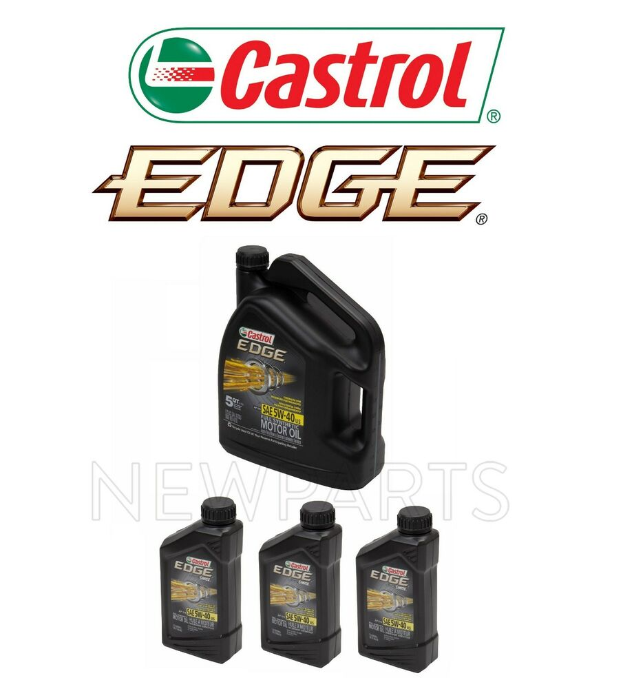 8 quarts 5w40 castrol edge full synthetic 5w 40 engine for 5 w 40 motor oil