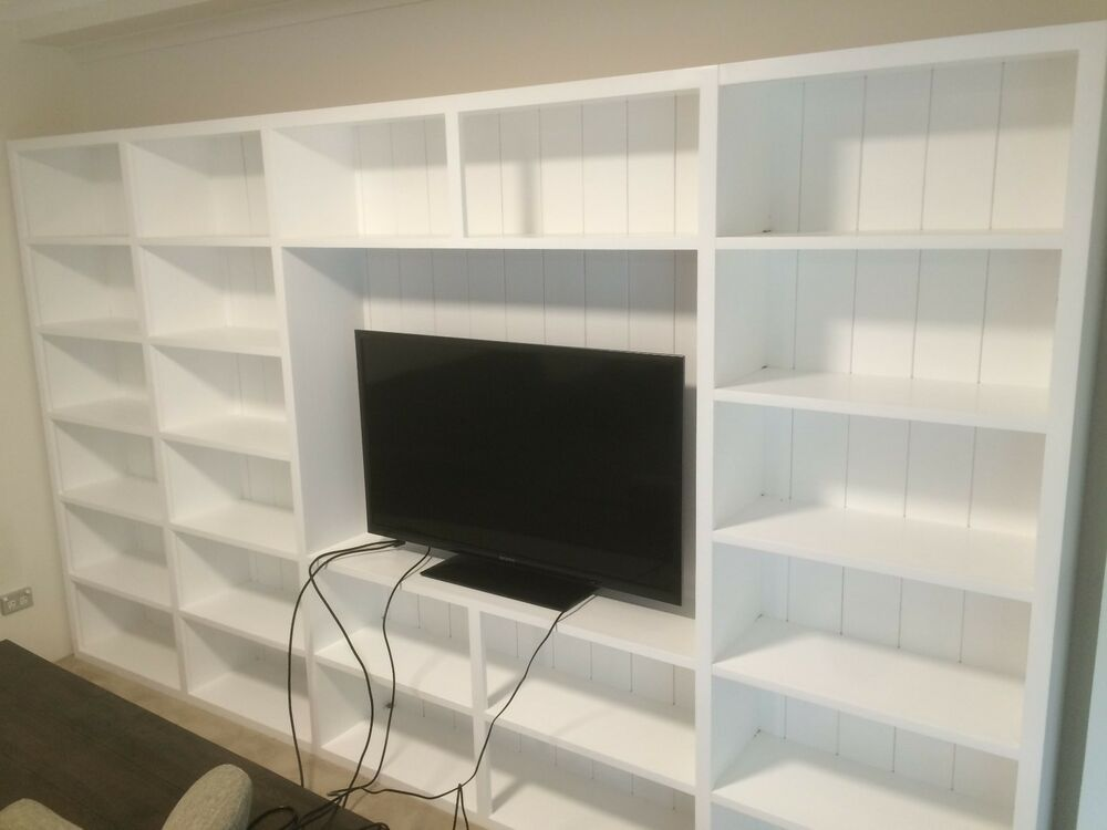 Pyrmont Integrated Wall Unit Bookshelf Tv Stand Living