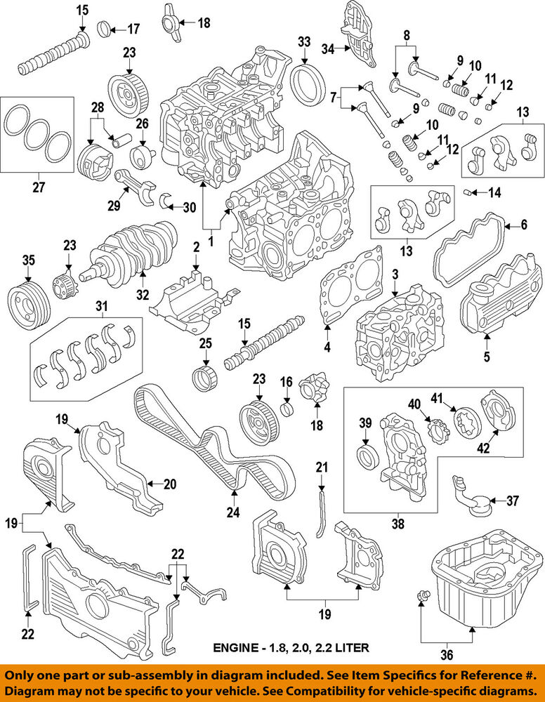 details about subaru oem 90-96 legacy-engine timing cover right 13568aa035