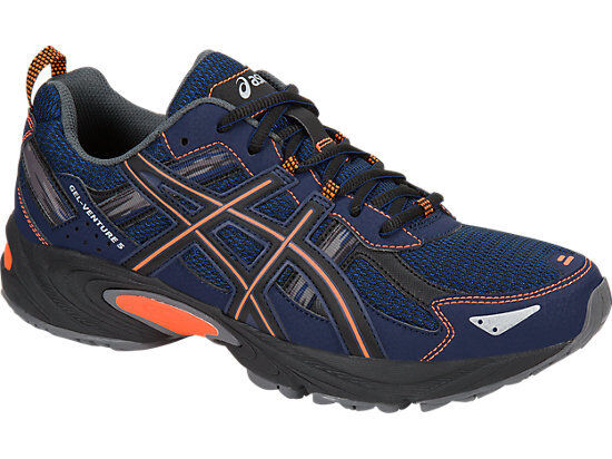 Mens Blue And Orange Running Shoes