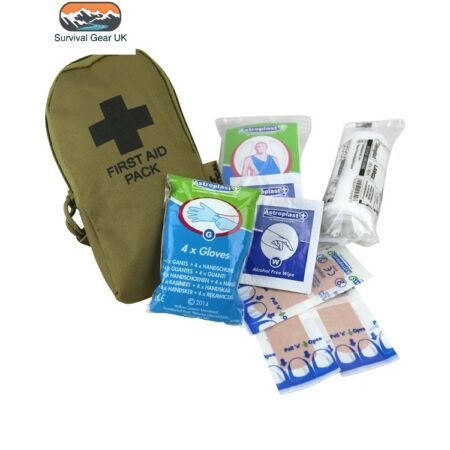 img-COYOTE SMALL POCKET FIRST AID KIT POUCH - Tactical Camping Survival Hiking Army