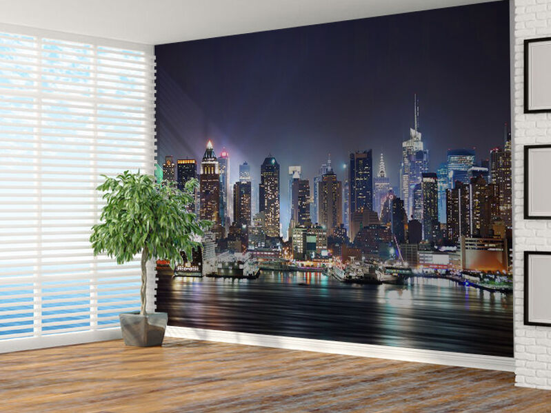 New York City Skyline Photo Wallpaper Wall Mural 7324213 Cityscape Usa Ebay