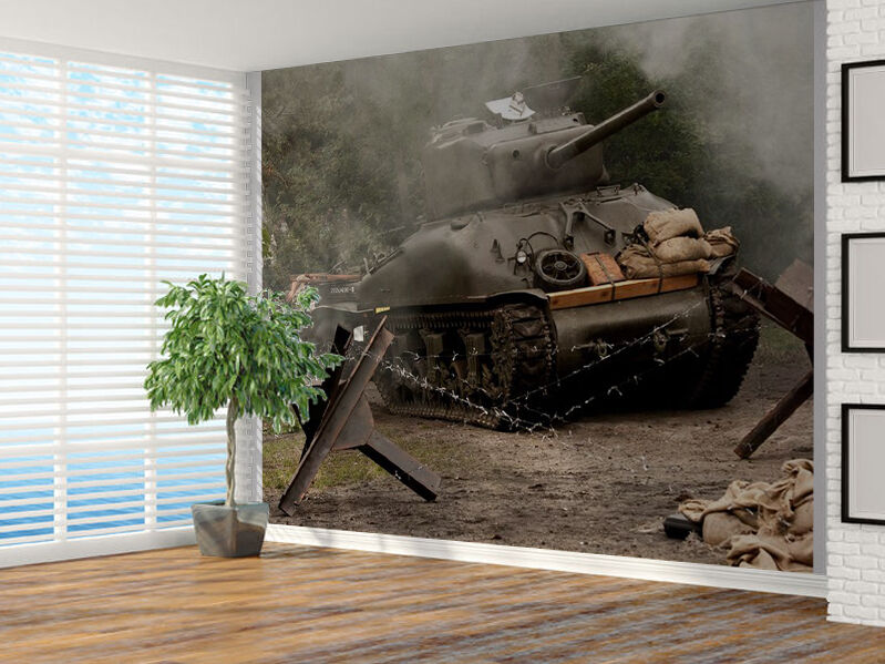 Tank army sherman m41a grizzli from ww ii photo wallpaper for Army wallpaper mural
