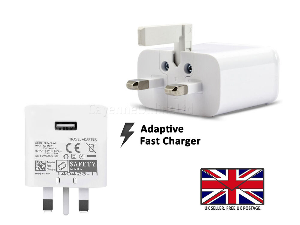 samsung galaxy s7 edge fast uk wall charger micro usb. Black Bedroom Furniture Sets. Home Design Ideas