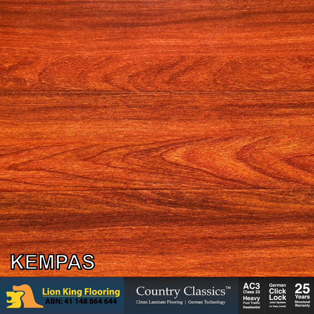 12mm Laminate Flooring Timber Looking Floating Floor Planks Colour Kempas