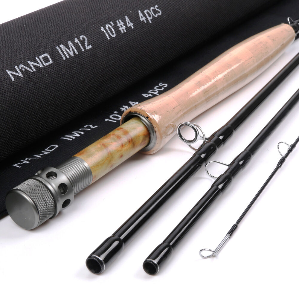 Carbon Fiber Rods >> Nymph Fly Fishing Rod 10FT -#4wt -4Pcs NANO IM12 Graphite Carbon Fast 95g Only | eBay