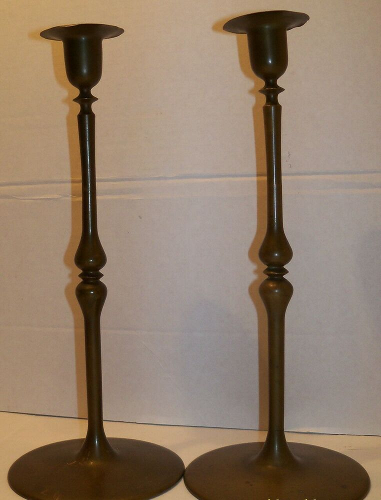 arts and craft bronze candlesticks 13 ebay