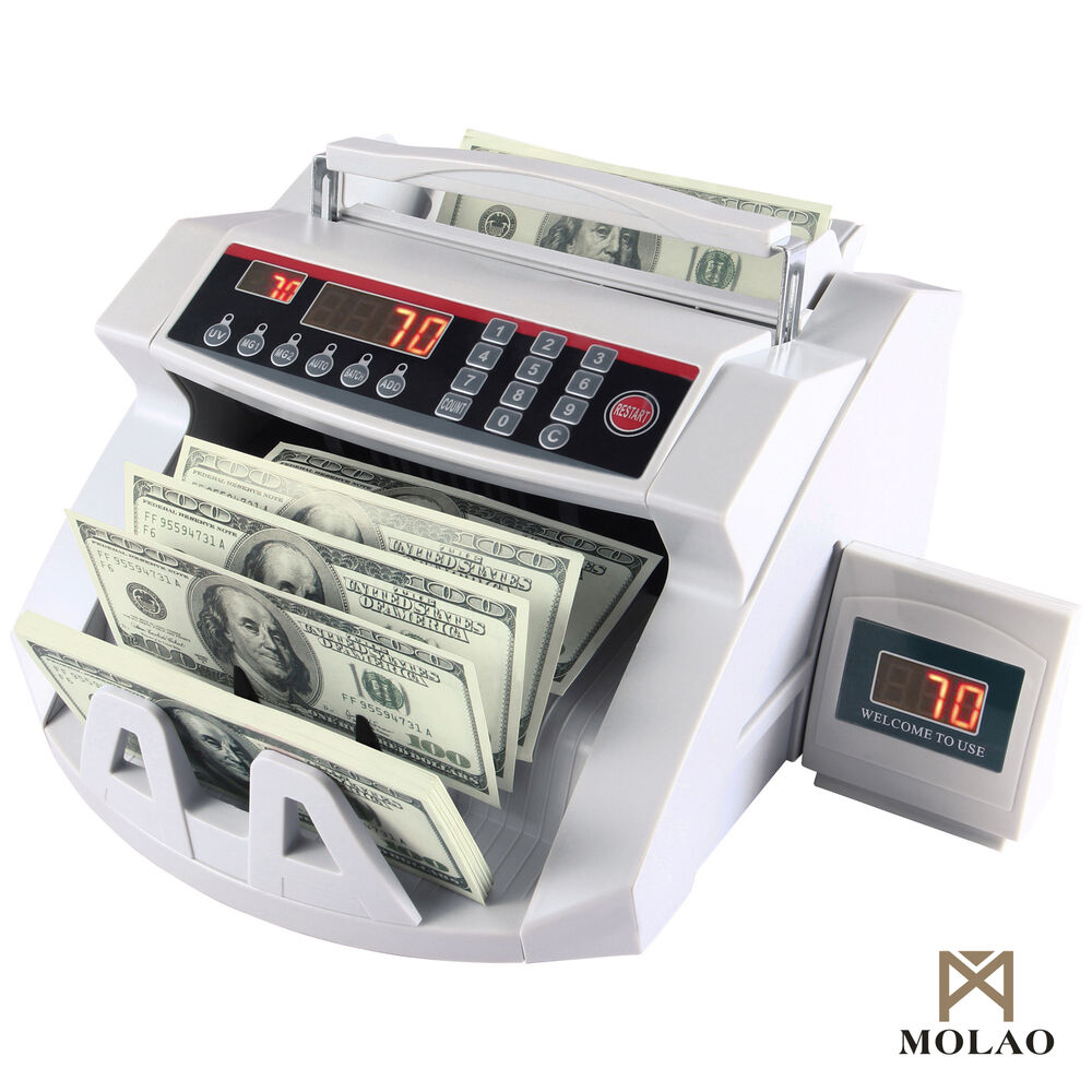 Money Cash Counting Bill Counter Bank Counterfeit Detector