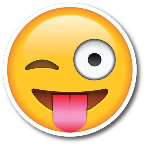 Tongue Out Winking Emoji 5 inch Heavy Duty Magnet Car