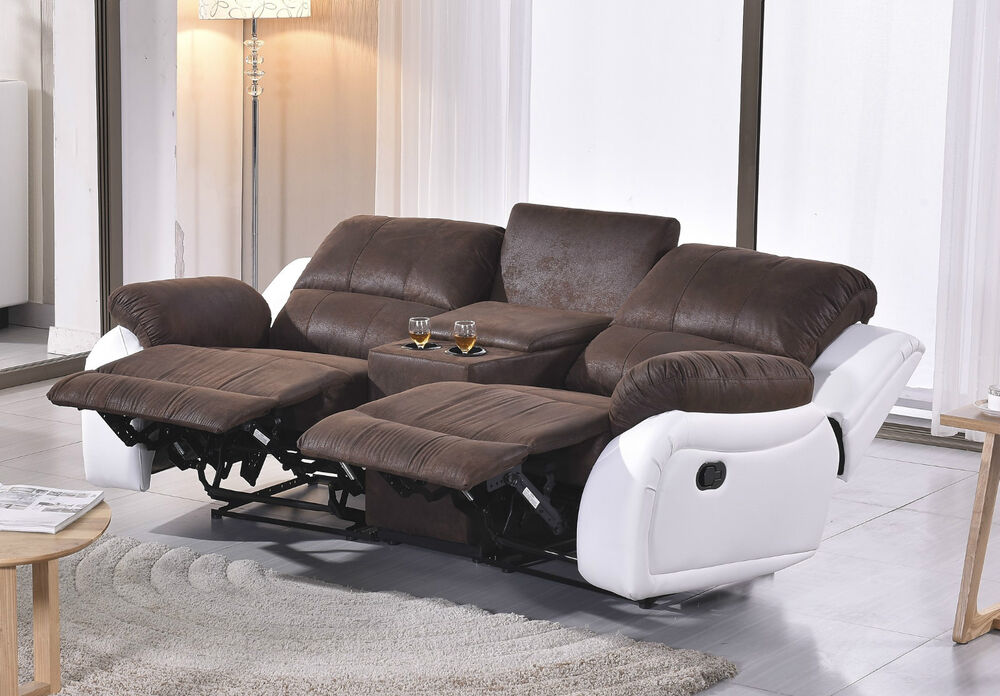 mikrofaser sofa kinosofa relaxcouch fernsehsofa heimkino 5129 cup 2 pu ebay. Black Bedroom Furniture Sets. Home Design Ideas
