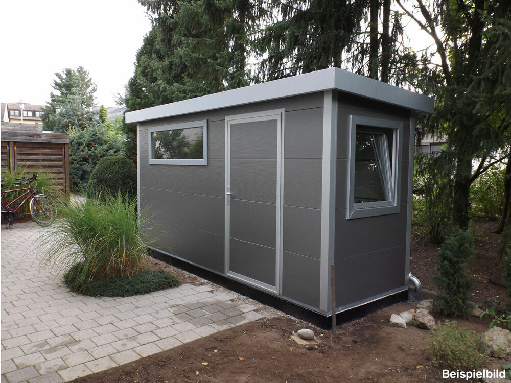 go iso hochwertiges gartenhaus isoliert graualuminium 4 50 x 1 50 m ebay. Black Bedroom Furniture Sets. Home Design Ideas