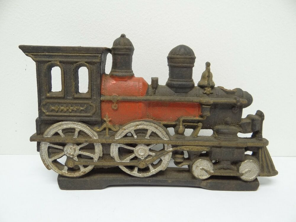 Nycrr Cast Iron Train: Vintage 1937 Large Metal Cast Iron Train Engine Locomotive