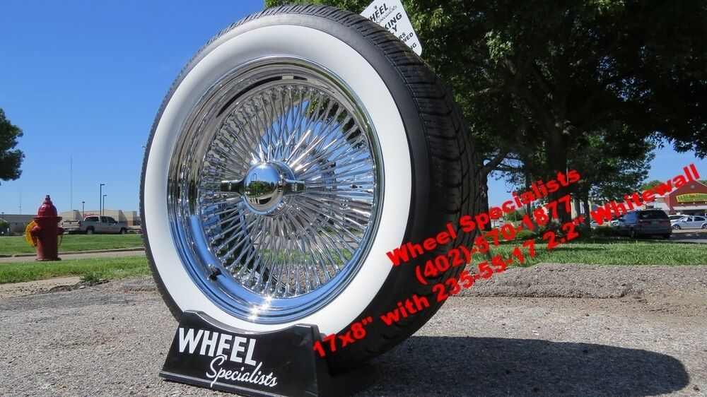 17 Chrome Dayton Style Wire Wheels Ww Tires Lincoln Continental