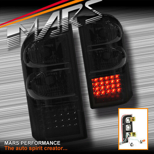 smoked led tail lights for nissan patrol gu 97 04 taillight 4wd 4x4 series 1 2 3 ebay. Black Bedroom Furniture Sets. Home Design Ideas