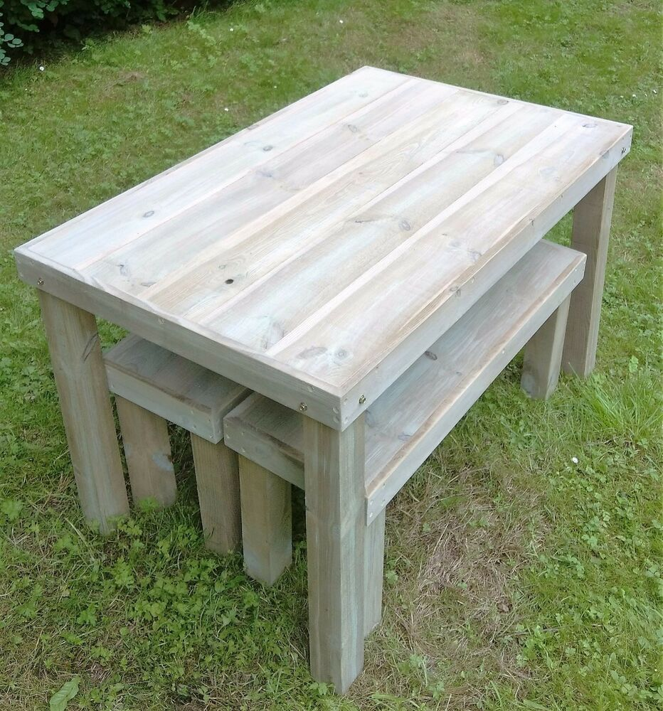 handmade wooden benches handmade wooden garden table and benches ebay 982