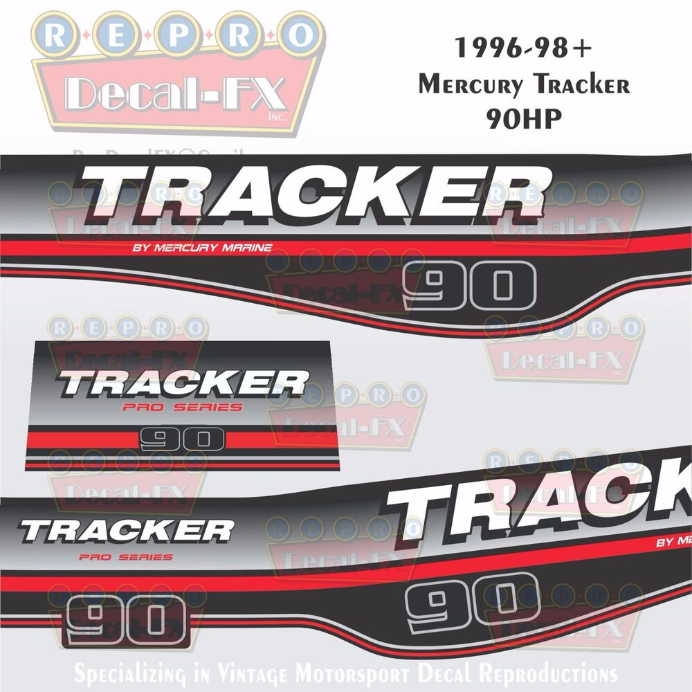 1996 98 Tracker By Mercury 90 Hp Decals Outboard
