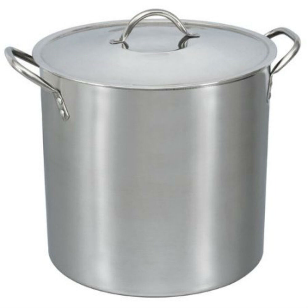 16 Qt Stainless Steel Stock Pot Lid Cover Cookware Large