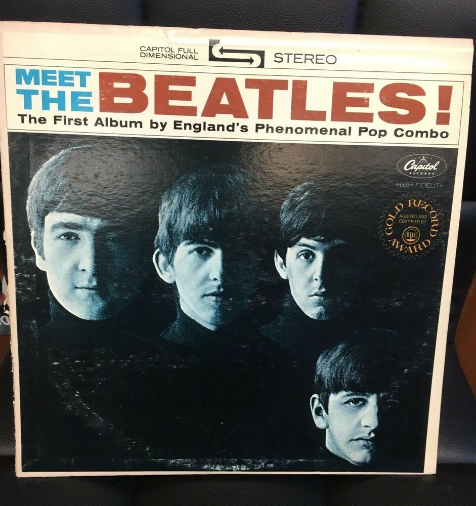 Beatles Meet The Beatles Lp Us Apple Press Gold Record