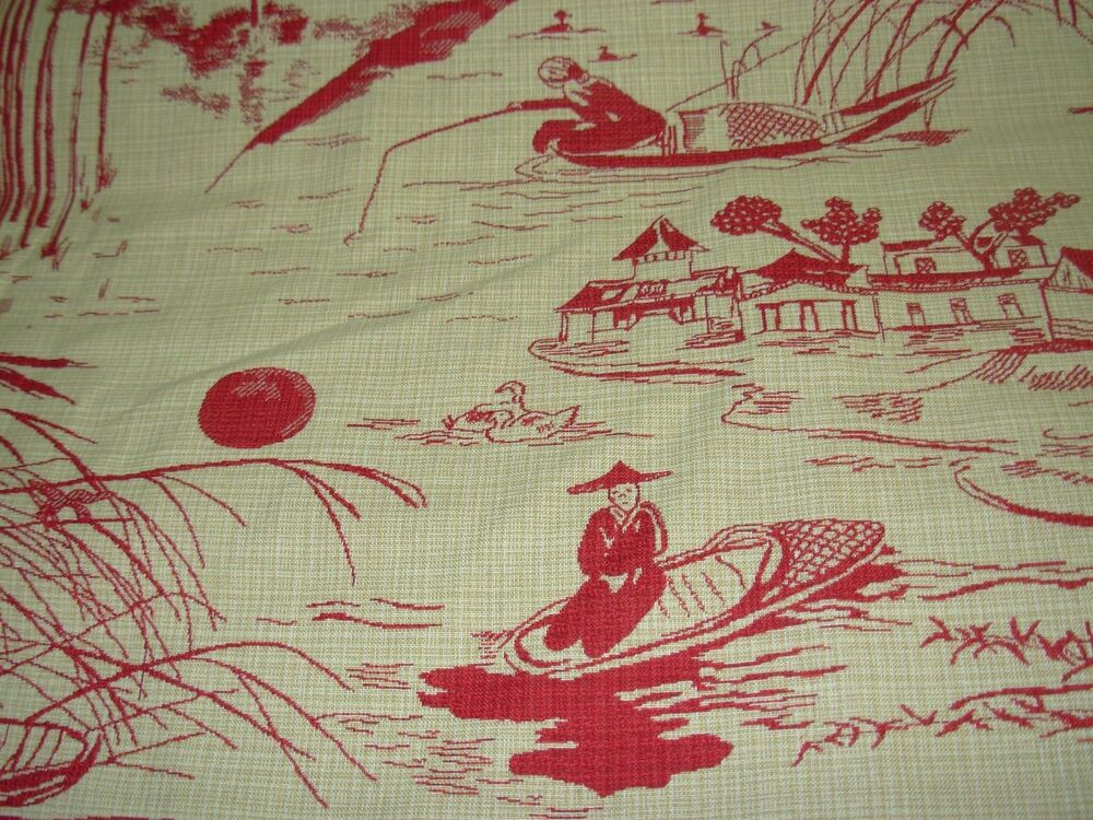 Bty Regal Quot Asian Oriental Toile Quot Woven Doublesided