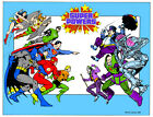 SUPER POWERS HEROES vs VILLAINS Pin Up Poster DC