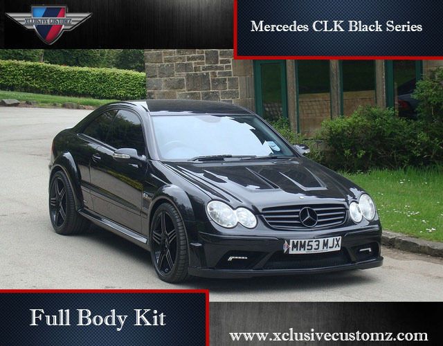 mercedes clk black series full body kit for mercedes clk. Black Bedroom Furniture Sets. Home Design Ideas