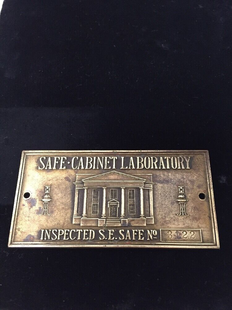 Charmant SAFE CABINET LABORATORY INSPECTED S.E. SAFE NO. 3122 | EBay