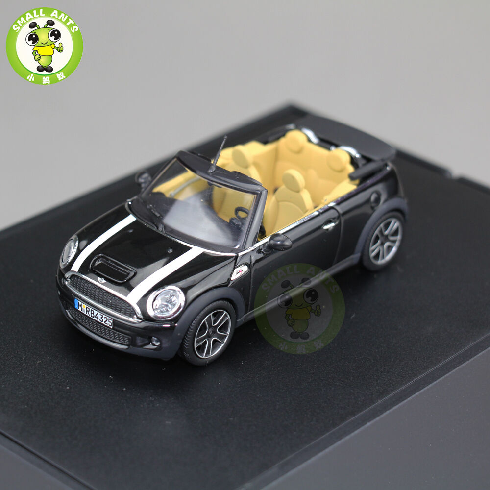 1 43 mini cooper s cabrio convertible black r57 2009 minichamps diecast model ebay. Black Bedroom Furniture Sets. Home Design Ideas