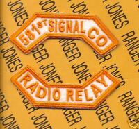 "8th Army KOREA ""581st SIGNAL CO RADIO RELAY"" tab patch"