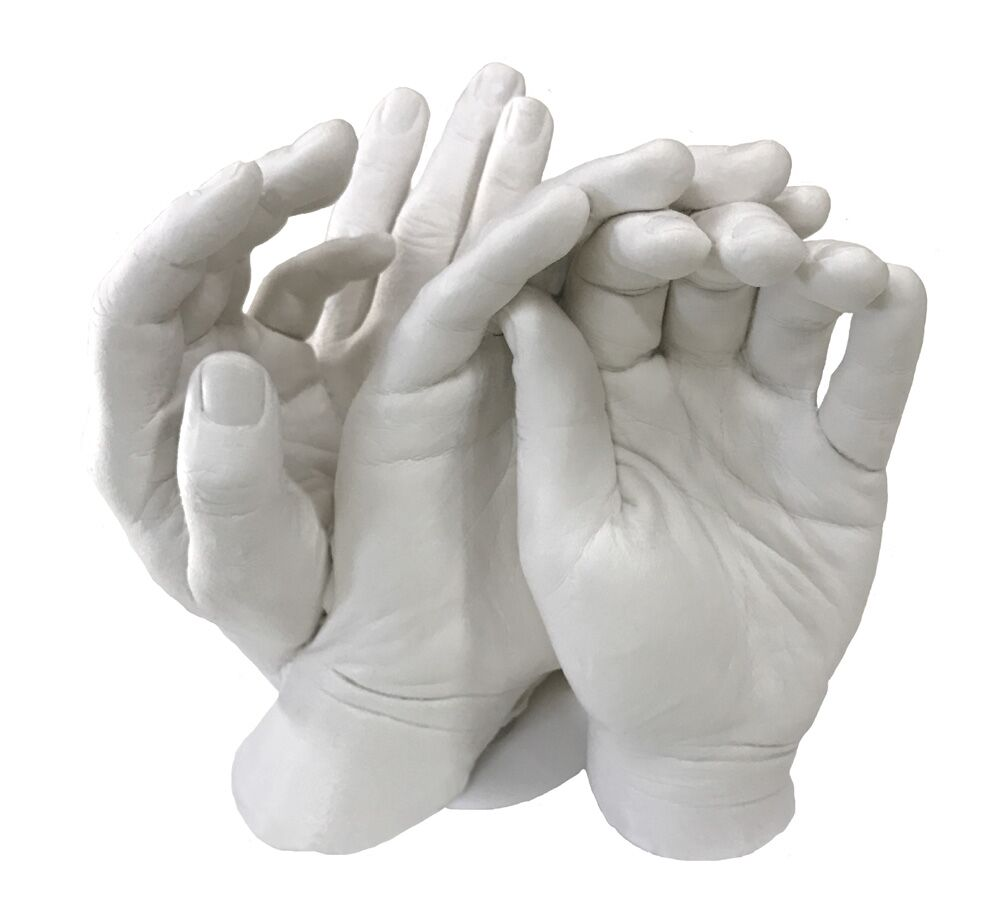 Family Hands Plaster Casting Kit 1 1kg Alginate Amp 4kg Of