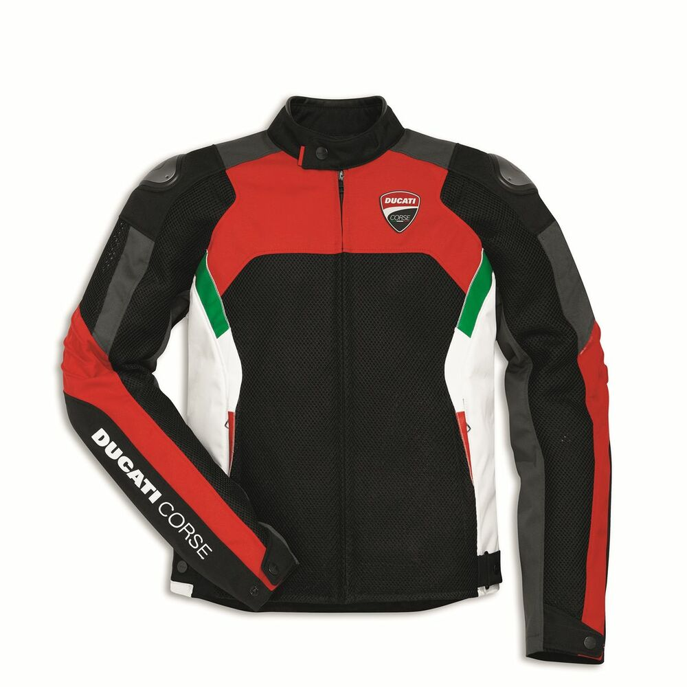 Ducati Corse Summer Mesh Textile Motorcycle Jacket By