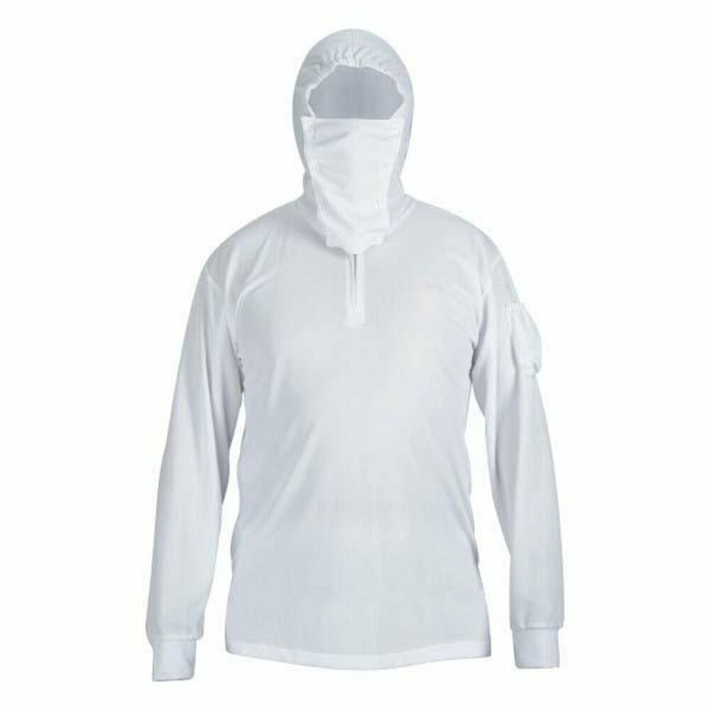 Men 39 s long sleeve sun protective quick dry hooded fishing for Fishing shirts for men
