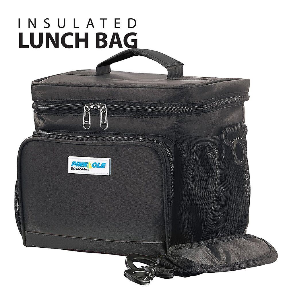 insulated lunch bag for work pinnacle cooler bag for adults ladies and men ebay. Black Bedroom Furniture Sets. Home Design Ideas