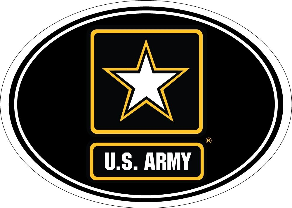 Military U.S. Army Logo USA Made Oval for Car Refrigerator ...