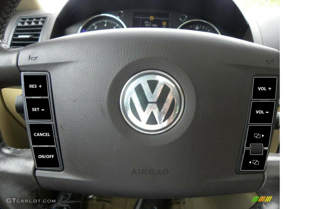 2004–2009 VW Volkswagen Touareg Steering Wheel Matte Black Button Repair decals | eBay