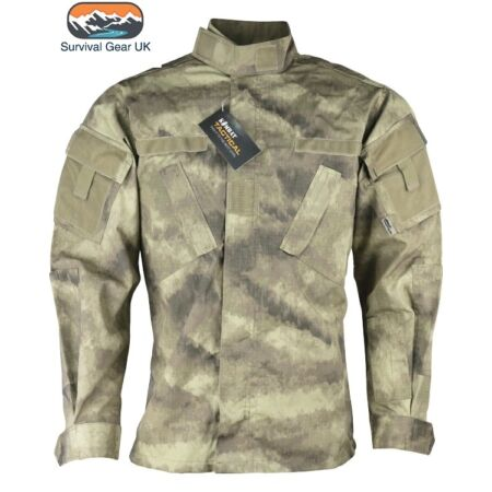 img-Smudge Cam US Army Style ACU Assault Shirt Military Combat Airsoft Fishing