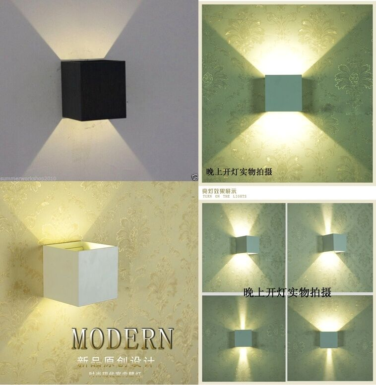 12w LED Indoor Outdoor Wall Sconce Up/Down Light Fixture Garage Door ...