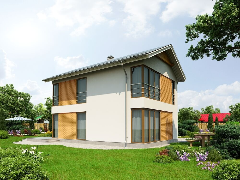 Prefab homes sip house modular 127 m2 ebay for Prefab sip homes