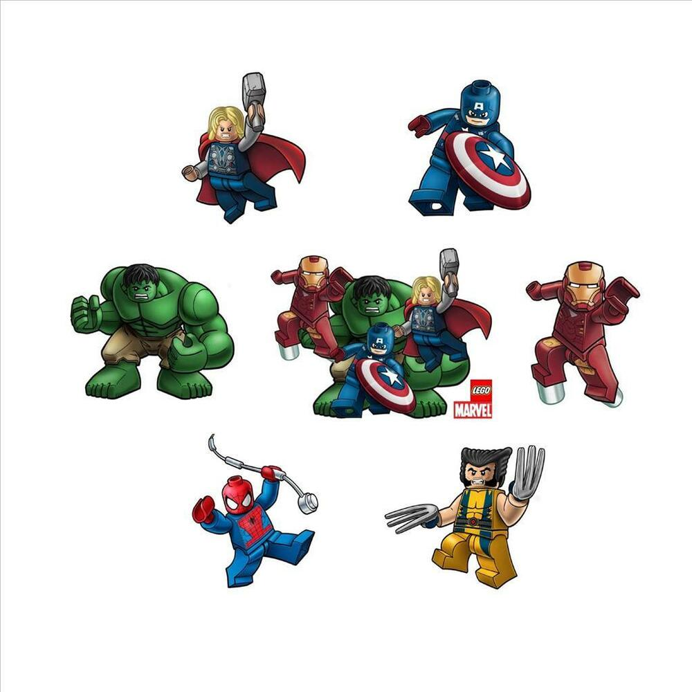 LEGO MARVEL AVENGERS / SUPERHEROES CHARACTER STICKERS