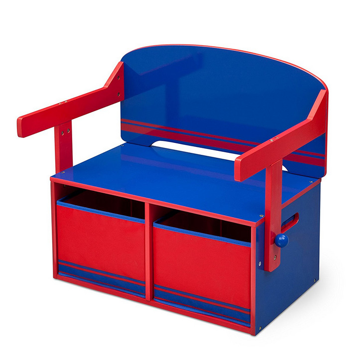 Paw Patrol Toy Organizer Bin Cubby Kids Child Storage Box: 3 In 1 Storage Bench Desk Children Bedroom Kids Home Toy
