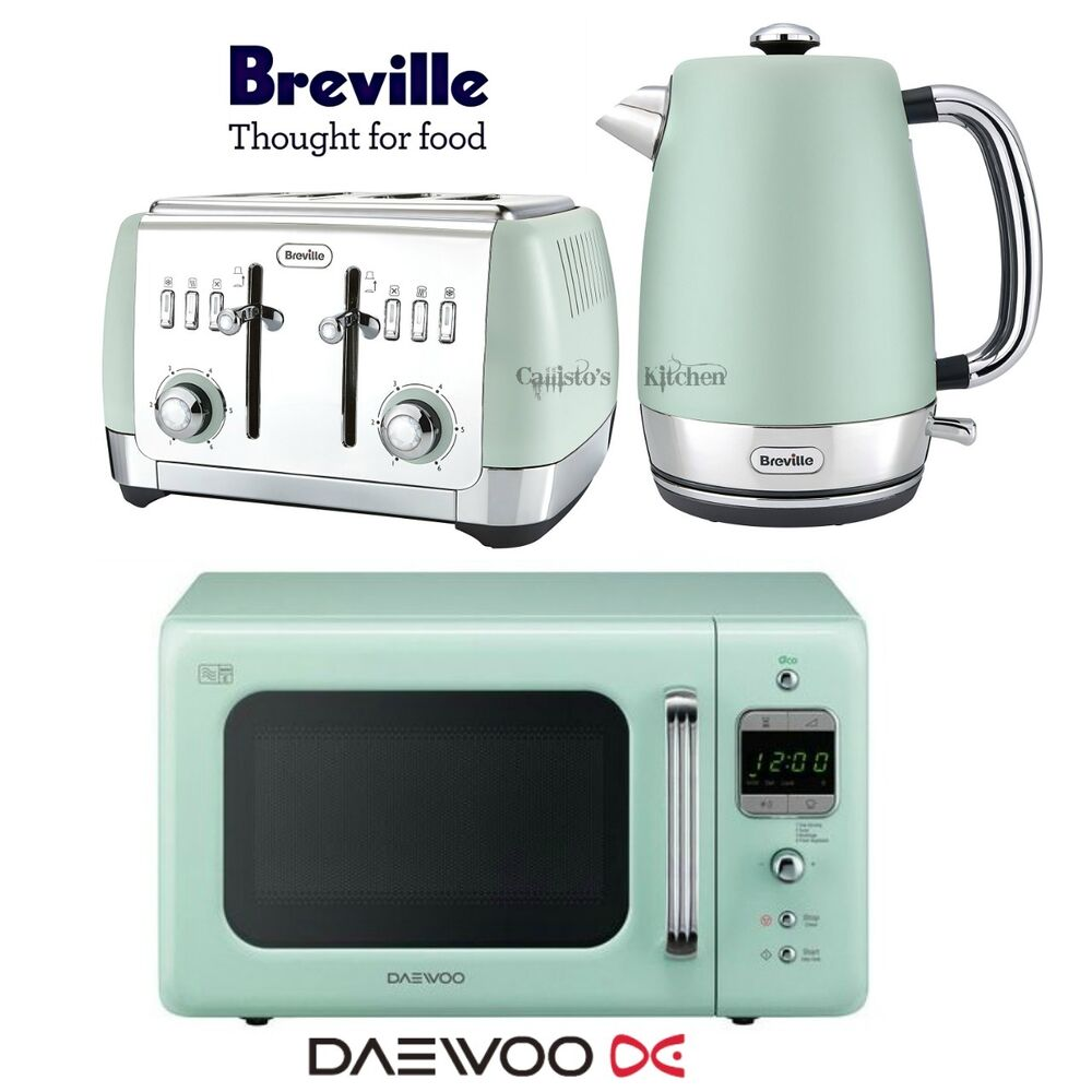 Daewoo Retro Microwave Amp Breville Strata Kettle And