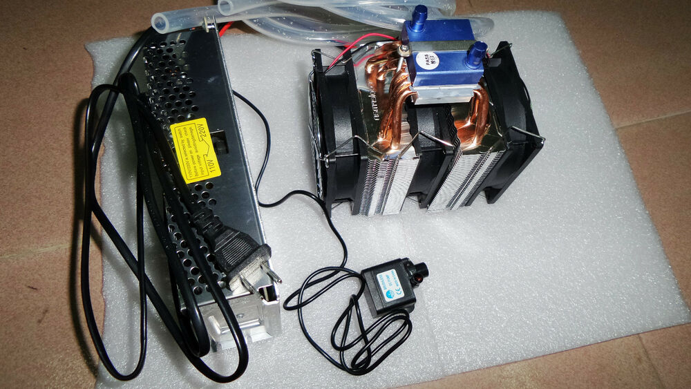 Thermoelectric diy water chiller kit cooling machine for for Fish tank cooler
