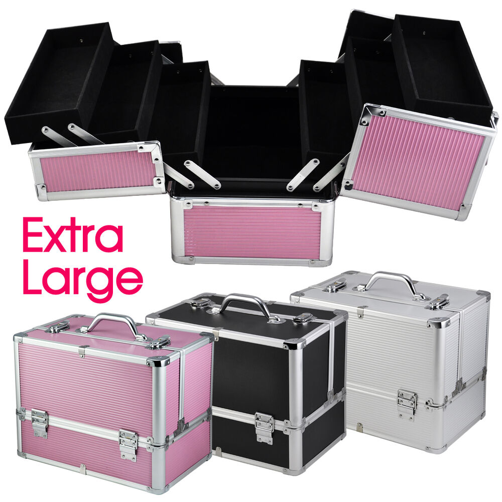 panana extra large vanity case beauty box make up jewelry cosmetic nail storage ebay. Black Bedroom Furniture Sets. Home Design Ideas