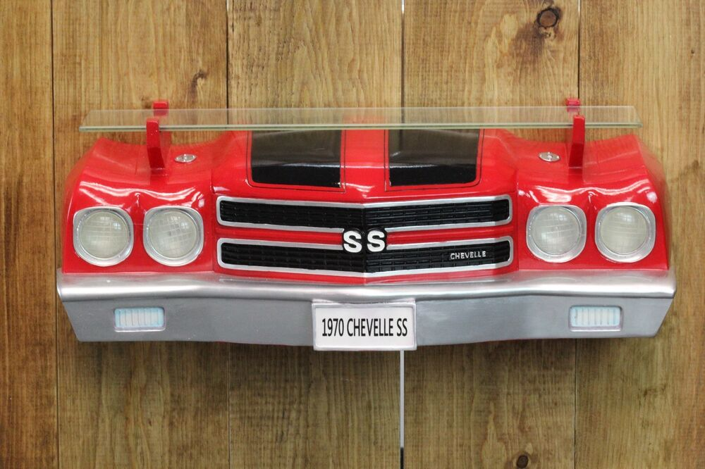 Chevy Man Cave Decor : Gm chevrolet chevy chevelle ss front end wall shelf