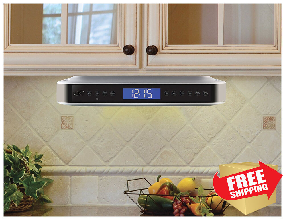 Kitchen Ilive Under Counter Cabinet Stereo Radio Bluetooth