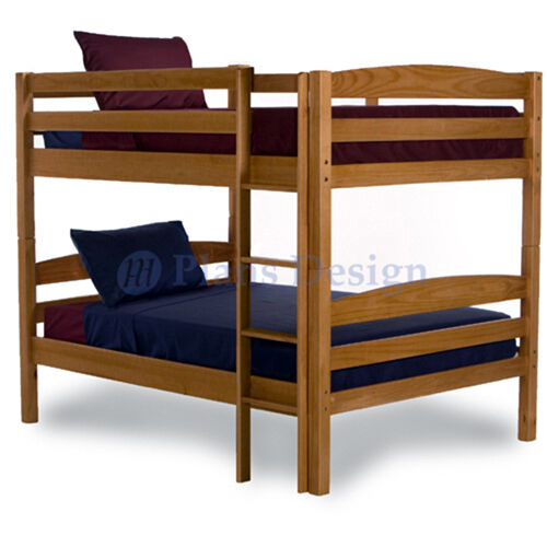 Full over full bunk bed woodworking plans design 1202 for Full bed with mattress included