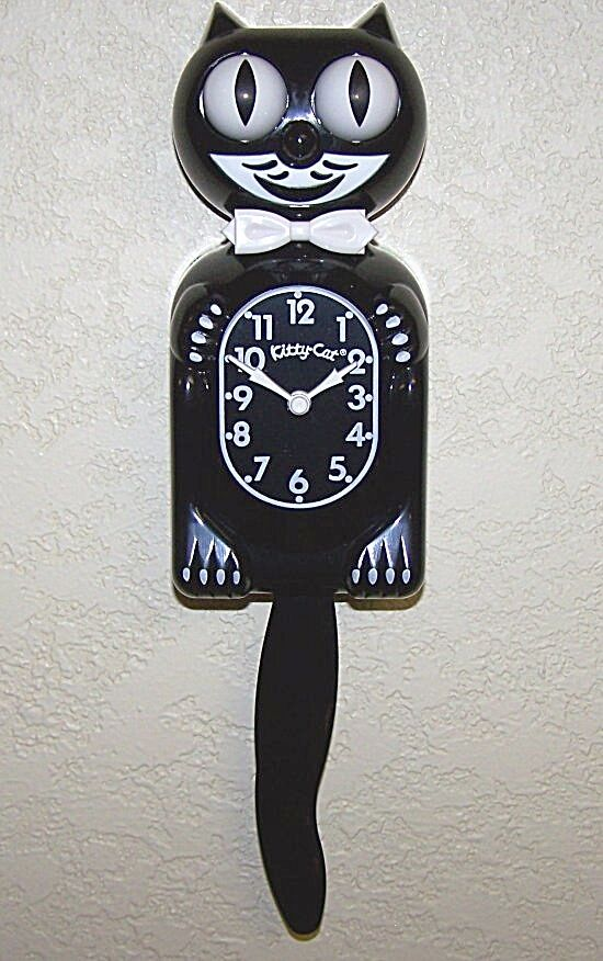 Kitty cat clock the smaller cuter kit cat clock black - Kitty cat clock ...